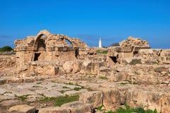 Αρχαιολογικό πάρκο της Πάφος στη Kato Pafos στη Κύπρο Στοκ φωτογραφία με δικαίωμα ελεύθερης χρήσης