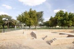 Αρχαιολογικό πάρκο Hili στο Al Ain, Ε.Α.Ε. Στοκ Εικόνες