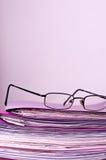 Αρχεία και γυαλιά Στοκ Φωτογραφία