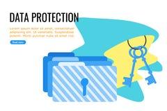 Αρχεία και προστασία φακέλλων ελεύθερη απεικόνιση δικαιώματος