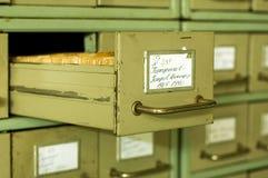 αρχεία καρτών Στοκ εικόνες με δικαίωμα ελεύθερης χρήσης