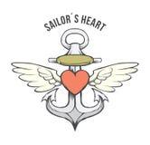 Αρχείο απεικόνισης αποθεμάτων καρδιών αγκύρων vector†« Στοκ Εικόνες