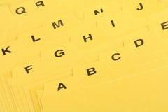 αρχείο διαιρετών κίτρινο Στοκ φωτογραφία με δικαίωμα ελεύθερης χρήσης