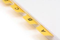 αρχείο διαιρετών κίτρινο Στοκ Εικόνες