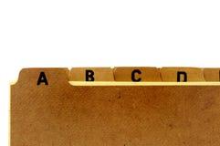 αρχείο καρτών Στοκ Φωτογραφία