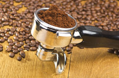 Αρχηγός ομάδας μηχανών Espresso Στοκ εικόνα με δικαίωμα ελεύθερης χρήσης