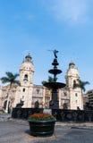Αρχιεπισκοπικό παλάτι στο της Λίμα Περού Στοκ φωτογραφία με δικαίωμα ελεύθερης χρήσης