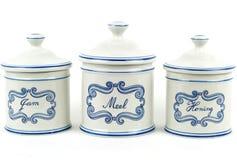 αρχικά τρία vases Στοκ Φωτογραφίες