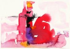 Αρχική αφηρημένη βούρτσα υποβάθρου watercolor Στοκ φωτογραφίες με δικαίωμα ελεύθερης χρήσης