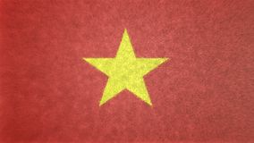 Αρχική εικόνα σημαιών του Βιετνάμ τρισδιάστατη Ελεύθερη απεικόνιση δικαιώματος