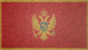 Αρχική εικόνα σημαιών του Μαυροβουνίου τρισδιάστατη Ελεύθερη απεικόνιση δικαιώματος