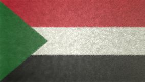 Αρχική εικόνα σημαιών του Σουδάν τρισδιάστατη Απεικόνιση αποθεμάτων