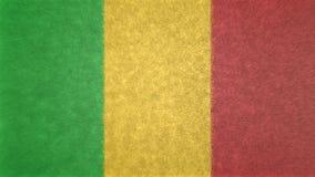 Αρχική εικόνα texture3D της σημαίας του Μαλί Διανυσματική απεικόνιση