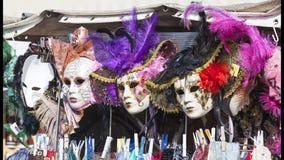 Αρχική ενετική μάσκα καρναβαλιού, κατάστημα οδών, Βενετία, Ιταλία Στοκ Εικόνες