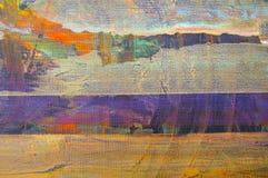 αρχική ζωγραφική πετρελ&alpha Στοκ Εικόνες