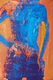 αρχική ζωγραφική πετρελ&alpha Στοκ εικόνες με δικαίωμα ελεύθερης χρήσης
