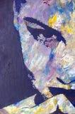 αρχική ζωγραφική πετρελ&alpha Στοκ φωτογραφία με δικαίωμα ελεύθερης χρήσης