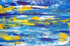 αρχική ζωγραφική πετρελ&alpha Στοκ Φωτογραφία