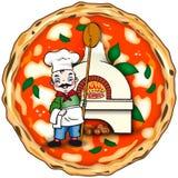 Αρχική ιταλική πίτσα Στοκ Φωτογραφία
