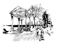 Αρχική καλλιτεχνική εικόνα του Κίεβου ιστορική Στοκ Εικόνες