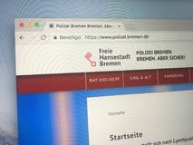 Αρχική σελίδα της αστυνομίας πόλεων της Βρέμης Στοκ Εικόνα