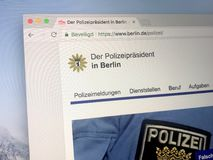 Αρχική σελίδα της αστυνομίας του Βερολίνου Στοκ φωτογραφία με δικαίωμα ελεύθερης χρήσης