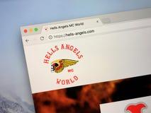 Αρχική σελίδα της λέσχης μοτοσικλετών αγγέλων κολάσεων στοκ φωτογραφίες
