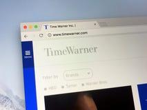 Αρχική σελίδα της Time Warner Στοκ εικόνα με δικαίωμα ελεύθερης χρήσης