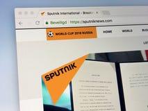 Αρχική σελίδα του ειδησεογραφικού πρακτορείου σπούτνικ Στοκ Εικόνες
