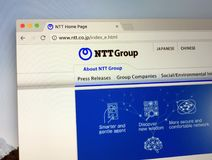 Αρχική σελίδα του τηλέγραφου και του τηλεφώνου της Ιαπωνίας - NTT στοκ φωτογραφία με δικαίωμα ελεύθερης χρήσης