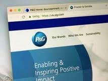 Αρχική σελίδα του PG COM, Procter & Gamble στοκ φωτογραφία με δικαίωμα ελεύθερης χρήσης