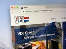 Αρχική σελίδα του VDL groep Στοκ φωτογραφία με δικαίωμα ελεύθερης χρήσης