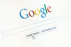 Αρχική σελίδα Google.com Στοκ Εικόνες