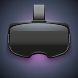 Αρχική στερεοσκοπική τρισδιάστατη κάσκα VR διανυσματική απεικόνιση