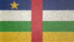 Αρχική τρισδιάστατη εικόνα, σημαία της Κεντροαφρικανικής Δημοκρατίας Διανυσματική απεικόνιση