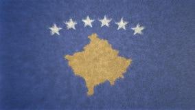 Αρχική τρισδιάστατη εικόνα σύστασης της σημαίας Κοσόβου Ελεύθερη απεικόνιση δικαιώματος