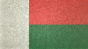 Αρχική τρισδιάστατη εικόνα σύστασης της σημαίας της Μαδαγασκάρης Ελεύθερη απεικόνιση δικαιώματος