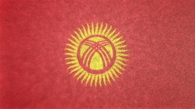 Αρχική τρισδιάστατη εικόνα σύστασης της σημαίας του Κιργιστάν Ελεύθερη απεικόνιση δικαιώματος