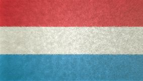 Αρχική τρισδιάστατη εικόνα σύστασης της σημαίας του Λουξεμβούργου Απεικόνιση αποθεμάτων