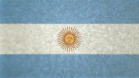 Αρχική τρισδιάστατη εικόνα της αργεντινής σημαίας Απεικόνιση αποθεμάτων