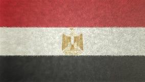 Αρχική τρισδιάστατη εικόνα της σημαίας της Αιγύπτου Απεικόνιση αποθεμάτων