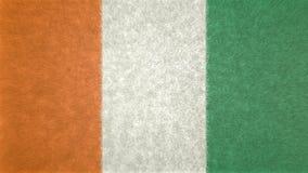 Αρχική τρισδιάστατη εικόνα της σημαίας της Ακτής του Ελεφαντοστού Ελεύθερη απεικόνιση δικαιώματος