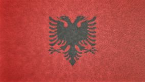 Αρχική τρισδιάστατη εικόνα της σημαίας της Αλβανίας Απεικόνιση αποθεμάτων