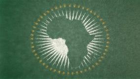 Αρχική τρισδιάστατη εικόνα της σημαίας της Αφρικής Απεικόνιση αποθεμάτων
