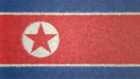 Αρχική τρισδιάστατη εικόνα της σημαίας της Βόρεια Κορέας Ελεύθερη απεικόνιση δικαιώματος