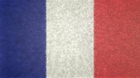 Αρχική τρισδιάστατη εικόνα της σημαίας της Γαλλίας Απεικόνιση αποθεμάτων