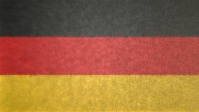 Αρχική τρισδιάστατη εικόνα της σημαίας της Γερμανίας Απεικόνιση αποθεμάτων