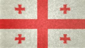 Αρχική τρισδιάστατη εικόνα της σημαίας της Γεωργίας Διανυσματική απεικόνιση