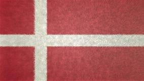 Αρχική τρισδιάστατη εικόνα της σημαίας της Δανίας Διανυσματική απεικόνιση