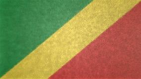 Αρχική τρισδιάστατη εικόνα της σημαίας της Δημοκρατίας του Κονγκό Απεικόνιση αποθεμάτων